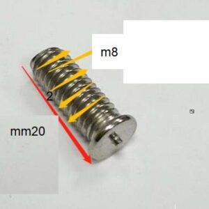 """בורג ריתוך באורך 20 מ""""מ-M8"""