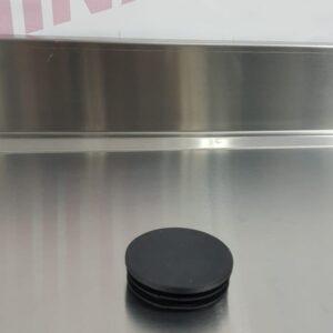 פקק לחיצה פלסטיק שחור לצינור בקוטר 48